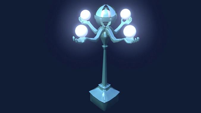 eyeball lamps, game art by Diana Kogan