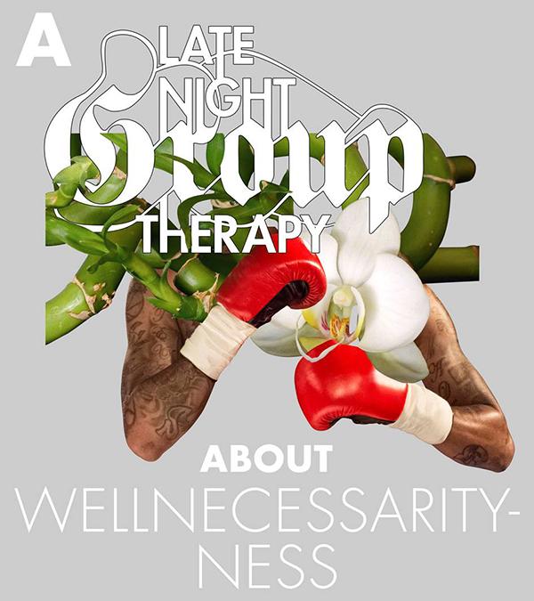 Late night Group therapy poster. Sanatorium Sonnenland WienWoche 2017